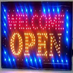 """Free 2-day shipping. Buy LED Neon Light Welcome Open Sign With Animation On/off and Power On/Off two Switchs for Business By """"E Onsale"""" J08 at Walmart.com Led Open Sign, Open Signs, Cool Neon Signs, Custom Neon Signs, Neon Lighting, Bar Lighting, Basement Movie Room, Neon Quotes, Underground Bunker"""