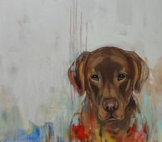 Modern dog portraits by Heather LaHaise Custom Dog Portraits, Pet Portraits, Paintings I Love, Animal Paintings, Dachshund, Abstract Animals, Cat Memorial, Dog Illustration, Dog Art