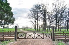 wooden horse ranch fence gate.  This would look nice at my ranch.