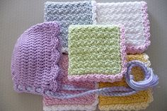 Baby wash cloth (click underlined title at this Ravelry post to get to the free pdf download)
