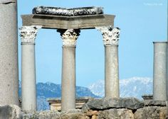 A detail from the agora at the #Perge ruins in #Antalya