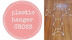 how to make a cross { diy } using dollar store plastic clothes hangers for holiday decor decoration for inside or outside. ** I think I'm getting a little be. Hanger Crafts, Upcycled Crafts, Easy Diy Crafts, Plastic Clothes Hangers, Cross Crafts, Christmas Crafts, Christmas Ideas, Christmas Wreaths, Christmas Ornaments