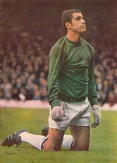 1968/69. Leicester City goalkeeper Peter Shilton during their relegation season.