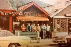 """""""My father and some buddies at a glass blowers somewhere in NC, ca. late 1960′s."""" (via source)"""