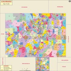 Colorado Zip Codes Map