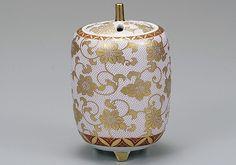 九谷焼香炉 白粒鉄仙