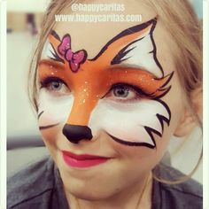 FOX How about this #foxy little one... she was a special request. She is a visitor from Hawaii and #facepainting is a rare commodity so of course I had to yes to this special request. #fox #happycaritas #howtofacepaint