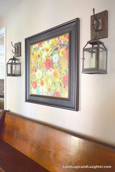 I struggle with decorating my front entryway. I move furniture and wall decor into and out of it on a seasonal basis and am never entirely happy with the end result. After the most recent move of furniture I decided that I wanted lanterns or sconces to flank a painting that was hung above our… Continue reading Wall Lantern Hooks For My Entryway – DIY