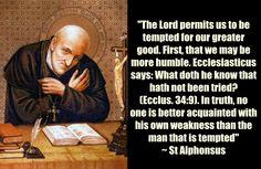 St Alphonsus on temptations www.religiousbookshelf.org