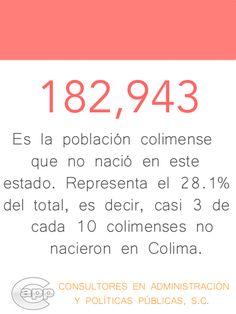Personas que viven en el estado de Colima, pero no son oriundas de esta entidad.