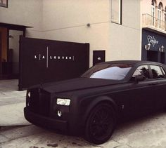 Matte Black Rolls Royce