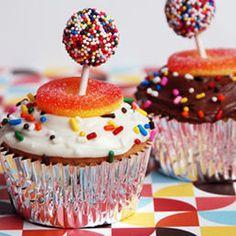 Candyland Cupcakes: Lollipop Sprinkles