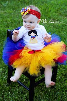 Snow White tutu, Baby Tutu, princess tutu, snow white, Photo Prop Tutu, Childrens Toddler, Snow White birthday, Halloween costume on Etsy, $36.00