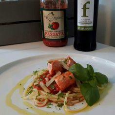 #olioflaminio #olio #flaminio #trevi #umbria #italy Ingredienser : Ørret i skiver Flaminio pasta spaghetti Mr. organic tomat saus Parmesan ...