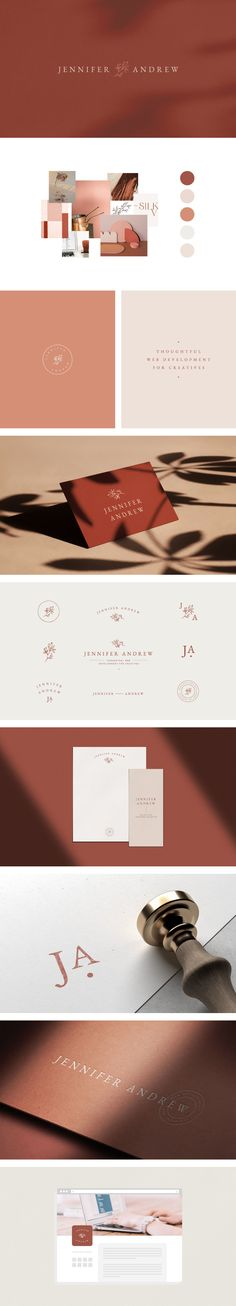 A perfectly elegant, feminine and modern logo design and branding board for a stylish, professional Identity Branding, Identity Design, Brochure Design, Corporate Branding, Visual Identity, Fashion Branding, Business Cards And Flyers, Graphisches Design, Design Styles