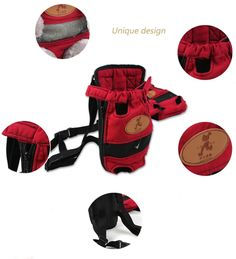 MaruPet Front Cat Dog Backpack Travel Bag Sling Carrier Portable Outdoor Lightweight and Safe Soft Comfortable Puppy Kitty Rabbit Doublesided Pouch Shoulder Carry Tote Handbag Red S ** Click on the image for extra information. (This is an affiliate link).