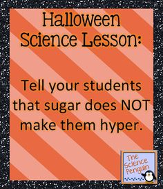 Halloween Candy Science Labs
