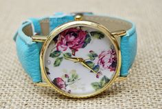 Floral Watch Vintage Style Leather Watch Women by BeautifulShow, $7.99 Fashion flower leather watch,the best gift of friendship.