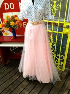 Power Pink Tulle Skirt + polka dots!!!  Who could want more???