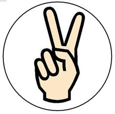 Retro Flashback - Peace Sign Hand Gesture Sign Pin Button (1 inch)