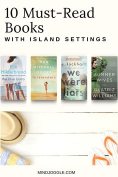 Escape to an island by diving into a book on this list from Mind Joggle. These literary fiction and historical fiction books about islands will take you to another time and place. Perfect for summer reading, spring break reading, or anytime. #books #booklist Historical Fiction Books, Literary Fiction, Fiction And Nonfiction, Great Books, New Books, Books To Read, Spring Break, Summer, Popular Books
