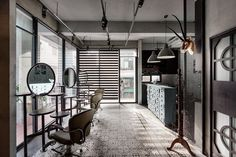 Industrial Salon Interiors - This Hair Salon in Taiwan Boasts the Appearance of an Art Gallery (GALLERY)