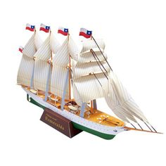 Esmeralda - paper construction - over 125 pieces! 3d Paper Crafts, Paper Toys, Paper Crafting, Nursing Home Activities, Fun Activities, Activity Ideas, Cruise Ship Party, Canon Inc, Ship In Bottle