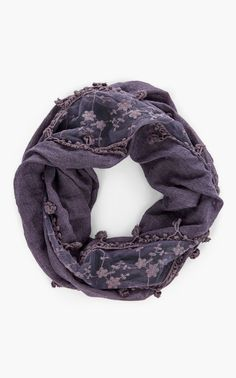 Softened purple scarf. Lovely for my eyes.