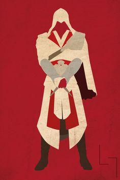 Minimalistic Ezio - by Jehuty23