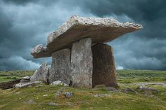 Six thousand year old megalithic tomb, one of the oldest monuments in the world, Poulnabrone Dolmen, County Clare, Ireland I'd love to go Stonehenge, Places To Travel, Places To See, Art Et Nature, County Clare, Ancient Ruins, Ancient Artifacts, Ancient Greece, Ancient Egypt
