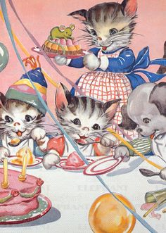 Birthday Cats Friendship Illustrator: E. Newton Imprint: Laughing Elephant Parties'