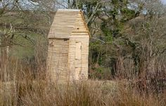 Owl nesting tower, at the Lost Gardens of Heligan, Cornwall UK