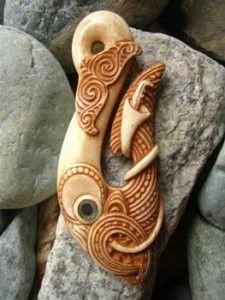 Maori-bone-carving-pendant Highly detailed bone carving pendant by master carver David Taylor