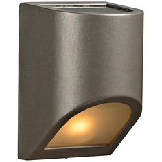 """POSSIBLE PURCHASE  $90 Maximum 60 watt bulb (not included). 8"""" high. 5"""" wide. UL listed for use in outdoor wet locations. Perry 8"""" High Top and Bottom Bronze Outdoor Wall Light"""