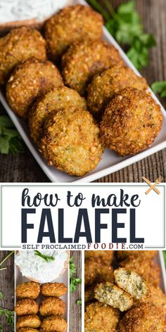 Falafel is one of my favorite Middle Eastern street food recipes. Chickpeas are . - Falafel is one of my favorite Middle Eastern street food recipes. Chickpeas are . Chickpea Recipes, Veggie Recipes, Appetizer Recipes, Cooking Recipes, Healthy Recipes, Healthy Food, Appetizers, Gourmet Food Recipes, Recipes Dinner