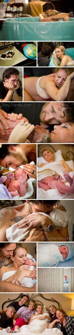 Beautiful home birth