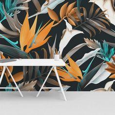 Naadloos fotobehang. Eigen ontwerp op airtex of sanotex doek; scheurt en kreukt niet, is eenvoudig schoon te maken en krasvast. Inspirational Wallpapers, Office Decor, Plant Leaves, Entrepreneurship, Interior, Plants, Logo, Home Decor, Design