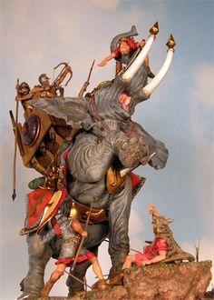 Punic war-battle of Zama (war elephants) Ancient Rome, Ancient History, War Elephant, Punic Wars, Roman History, Art Sculpture, Elephant Design, Star Wars Toys, Fantasy Warrior