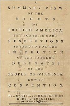 The American Founders Online: An Annotated Guide to Their Papers and Publications Compiled by Jurretta Jordan Heckscher, Digital Reference Specialist    Photo: A summary view of the rights of British America