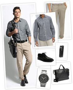 Professional Attire Men - This is acceptable attire for positions that allow business casual dress.