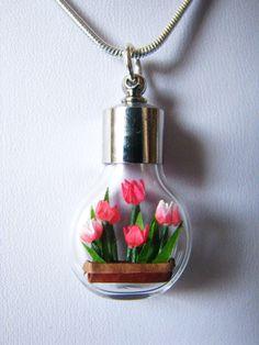 OOAK Miniature Origami Tulips 1 NEED THIS!!!!!!!!!!!!!!!!!!