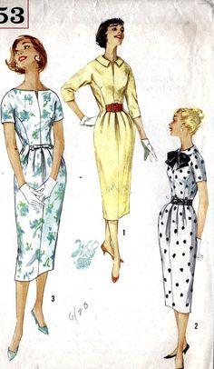 1950s Misses One Piece Dress