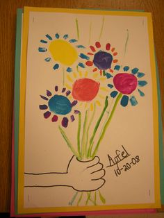 """Picasso flower painting in style of """"Hands Holding Flowers"""": Artolazzi"""