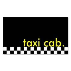 taxi cab. (checkered stripe) business card template. This great business card design is available for customization. All text style, colors, sizes can be modified to fit your needs. Just click the image to learn more!