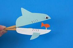 Whether it's Shark Week or just an ordinary Tuesday, this shark craft is fun for kids and makes a great. Whether it's Shark Week or just an ordinary Tuesday, this shark craft is fun for kids and makes a great … Kids Crafts, Sea Crafts, Family Crafts, Beach Crafts For Kids, Camping Crafts For Kids, Summer Kid Crafts, Summer Crafts For Preschoolers, Arts And Crafts For Kids For Summer, Sea Animal Crafts