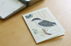 CAVALLINI 缶入り グリッター グリーティング セット(ブラックバード) - 鳥モチーフ雑貨・鳥グッズのセレクトショップ:鳥水木    #bird #greetingcard #torimizuki