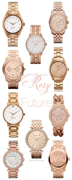 Rose Michael Kors Watches | Just got the beautiful watch on the bottom middle as an early birthday present. I cannot wait to pick it up! <3