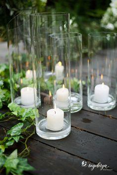 Зелено-белое оформление свадьбы с золотыми элементами