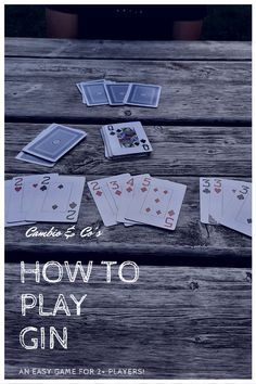 Gin is an easy card game for 2 or more players. It's perfect for a cottage weekend with friends or date night. Group cards in runs or 3-of-a-kind to win! Visit cambionco.com for the full rules. Do You Like It, Lets Do It, Playing Card Games, Game 3, Your Cards, Gin, Growing Up, Kid Stuff, Best Friends