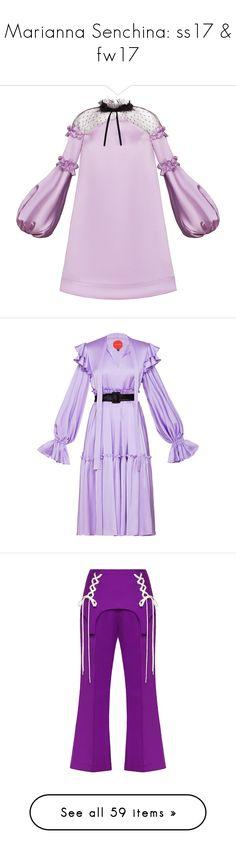 """Marianna Senchina: ss17 & fw17"" by livnd ❤ liked on Polyvore featuring mariannasenchina, springsummer2017, livndfashion, livndmariannasenchina, dresses, purple, flutter sleeve dress, pink purple dress, off shoulder dress and ruffle sleeve dress"